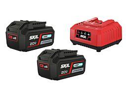 SKIL 3112 BA Batteries ('20V Max' (18V) 4,0Ah 'Keep Cool™' Li-Ion) and charger