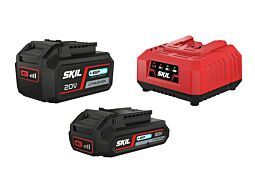 SKIL Batteries ('20V Max' (18V) 2,0 & 4,0Ah 'Keep Cool™' Li-Ion) and charger