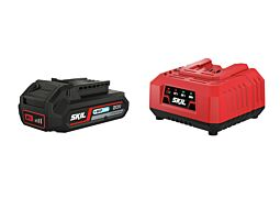 SKIL Battery ('20V Max' (18V) 2,0Ah 'Keep Cool™' Li-Ion) and charger