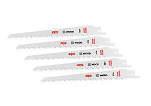 SKIL Set of 5 HCS saw blades for wood